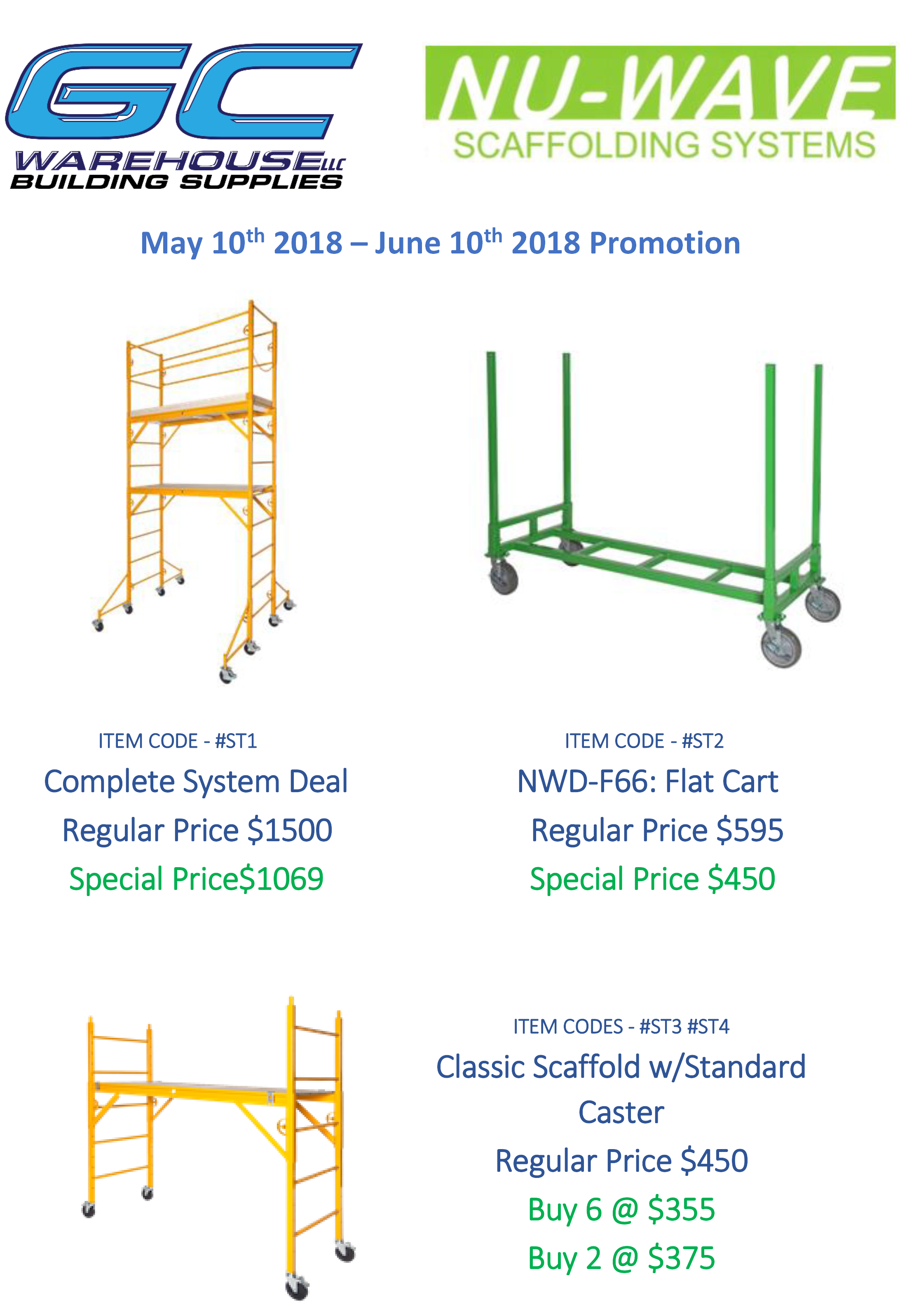 Nu Wave Scaffolding : May nu wave scaffold promo gcwarehouse